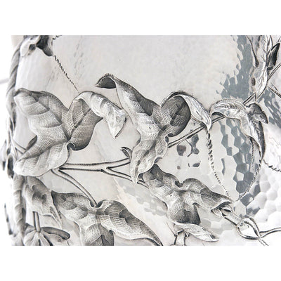 Detail a of Dominick & Haff Sterling Intaglio Chased Aesthetic Movement Presentation Water Pitcher, c. 1883