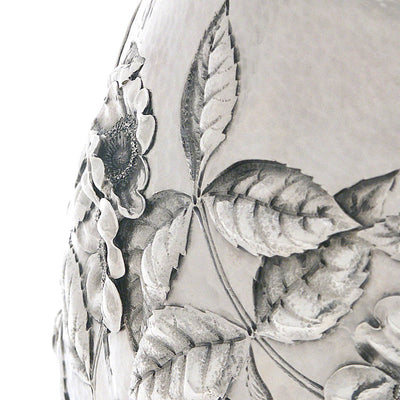 Detail b of Dominick & Haff Sterling Intaglio Chased Aesthetic Movement Presentation Water Pitcher, c. 1883