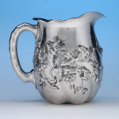 Dominick & Haff Sterling Intaglio Chased Aesthetic Movement Presentation Water Pitcher, c. 1883