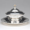 B/W Erik Magnussen for Gorham Prototype Sterling Silver Nut Bowl and Tray, Providence, RI, 1926