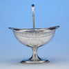 George West Irish Silver Sugar Basket, Dublin, c. 1799