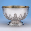 John Edwards (III) - The Collins Family Rare and Fine English Regency Sterling Silver Punch Bowl, London 1804/05, bearing armorials for John Raw Collins of Hatch Court, Hatch Beauchamp, Somerset
