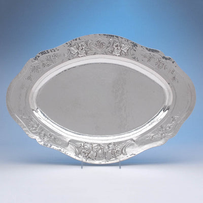 Clemens Friedell Sterling Silver Meat Platter, Pasadena, CA,  c. 1920