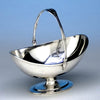 Arthur Stone Sterling Silver Decorated Swing-handled Sugar Basket, c. 1912