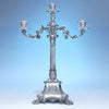 Mortimer & Hunt, successors to Paul Storr, Extremely Fine English Sterling Four Light Candelabrum, London, 1840/41