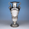 Gorham Special-order Antique Sterling Silver New York Yacht Club Trophy Vase, 1900