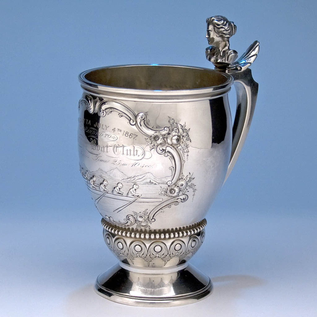 Wood & Hughes Coin Silver Rowing Trophy, 1867