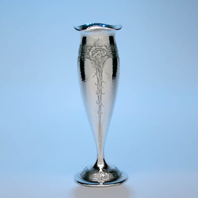 Marcus & Co. Sterling Silver Hammered Vase, New York, c. 1900