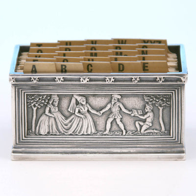 Tiffany & Co. Cast Sterling Silver Card Holder, New York City, c. 1920's