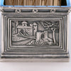 Castle on Tiffany & Co. Cast Sterling Silver Card Holder, New York City, c. 1920's