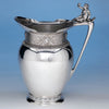 The Samuel M. Felton 'Medallion' Coin Silver Water Pitcher with Figural Handle, Gorham & Co., c. 1865