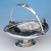 George Sharp for Bailey & Co: The Samuel M. Felton 'Medallion' Sterling Silver Swing-handled Cake Basket, c. 1865