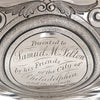 Inscription on George Sharp for Bailey & Co: The Samuel M. Felton 'Medallion' Sterling Silver Centerpiece Compote, c. 1865