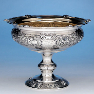 George Sharp for Bailey & Co: The Samuel M. Felton 'Medallion' Sterling Silver Centerpiece Compote, c. 1865