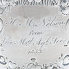 MD inscribed William Gale & Son Pair of American Coin Silver Presentation Goblets, New York, c. 1852, of Southern Interest