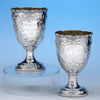 William Gale & Son Pair of American Coin Silver Presentation Goblets, New York, c. 1852, of Southern Interest