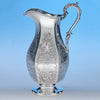 Eoff & Phyfe Antique Coin Silver Presentation Ewer or Pitcher, New York City, c. 1848