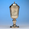 Benjamin Pyne: The Advice Cup - English Queen Anne Silver-Gilt Wine Goblet and Cover, London, 1705/6, of British Naval, American Colonial and Pirate Interest