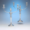 Matthew Boulton Pair of Antique Sheffield Plate Candelabra, c. 1800