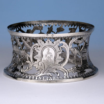 Edward Boyce (possibly) Irish Sterling Silver Dish Ring, Dublin, 1784, bearing the arms of Cope