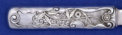 Back of handle to Gorham 'Hizen' Pattern Antique Sterling Silver Cake Saw, Providence, RI, c. 1880