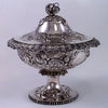 Extremely Rare American Silver Covered and Footed Fruit Bowl by Eoff & Shepard for Ball, Black & Co., c. late 1850's