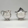 Creamer and sugar to Peer Smed Antique Sterling Silver Coffee Service with Tray, New York City, c. 1930's