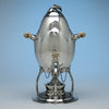 Kettle to Peer Smed Antique Sterling Silver Coffee Service with Tray, New York City, c. 1930's