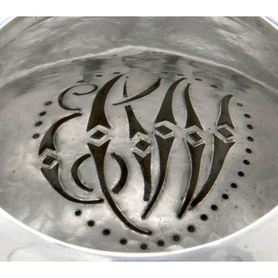 Spout strainer monogram in Peer Smed Antique Sterling Silver Coffee Service with Tray, New York City, c. 1930's