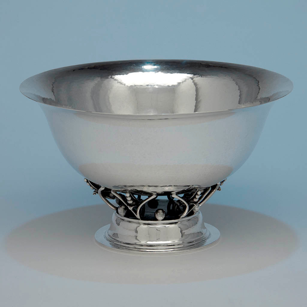 Georg Jensen USA Large Sterling Silver Bowl, by William DeMatteo (attr.) c. 1942-49