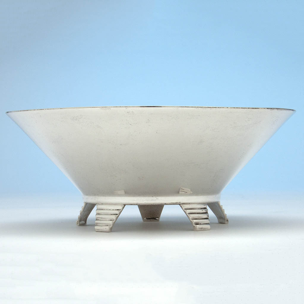 Shreve & Co Sterling Silver Art Deco Bowl, San Francisco, CA, c. 1925-30