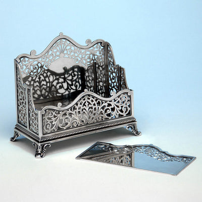 Open Howard & Co Antique Sterling Silver Letter Holder, 1886