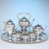 The Kalo Shop Hand Wrought Sterling Silver Arts & Crafts Seven Piece Coffee and Tea Service with Tray, Chicago, Illinois - c. 1916-17