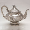 Crest on Peter L. Krider Antique Sterling Silver Tea Pot, Philadelphia, PA, c. 1870