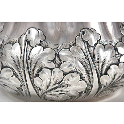 Base detail on Shiebler Sterling Water Pitcher from the Slocum Family, New York City, c. 1889