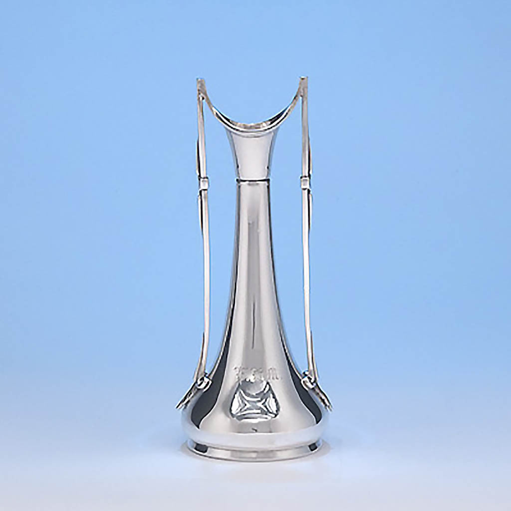 Gorham Coin Silver Bud Vase, retailed by Tiffany & Co., made from silver from the Comstock Lode, 1865-8