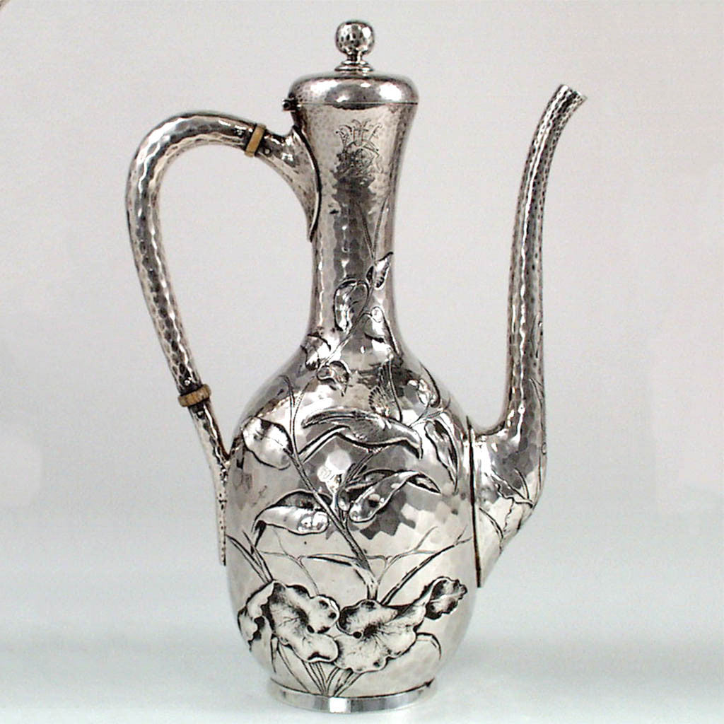 Dominick & Haff Aesthetic Movement Sterling Black Coffee Pot, c. 1881