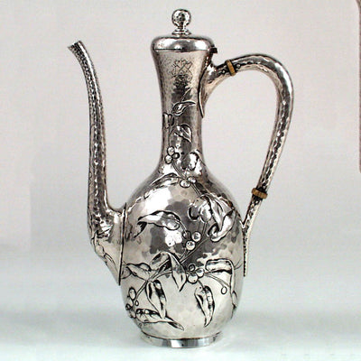 Reverse side of the Dominick & Haff Aesthetic Movement Sterling Black Coffee Pot, c. 1881