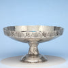 Shiebler 'Homeric' Medallion Antique Sterling Silver Large Compote, NYC, c. 1880's