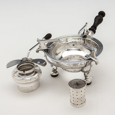 Parts to Arthur Stone Arts & Crafts Sterling Silver Brazier, Gardner, MA, c. 1915