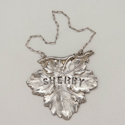 Sherry Ticket of Pair of Eoff & Shepard Rare Coin Silver Decanter Labels, New York City, 1852-60