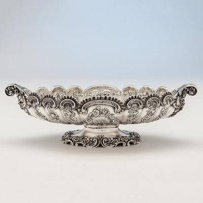 Single example of Pair of S. Kirk & Son Antique Sterling Silver Oval Serving Dishes, Baltimore, MD, 1891- c. 1905