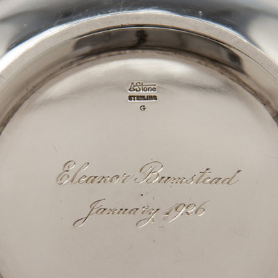 Inscription on Arthur Stone Arts & Crafts Sterling Silver 'Avon' Bowl, Gardner, MA, c. 1926