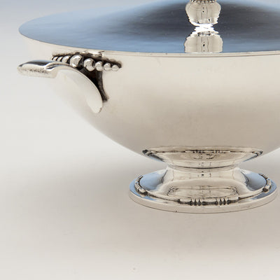 Base of Tuttle Silversmiths Sterling Silver Modernist Covered Bowl, Boston, 1938