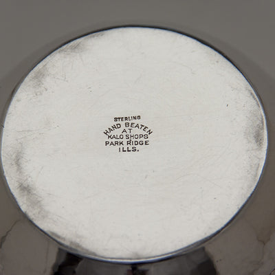 Marks on The Kalo Shop Early Arts & Crafts Sterling Silver Bowl or Vase, Park Ridge, IL, c. 1908-12