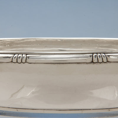 Border to Arthur Stone Arts & Crafts Sterling Silver Bowl, Gardiner, MA, c. 1920