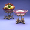Gorham MFG Co. Sterling Silver Gilt and Cut Glass Pair of Dessert Stands, designed and executed for the World's Columbian Fair, 1893