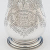 Inscription on Josiah Williams and Co English Sterling Homing Pigeon Trophy, Exeter, 1879/80