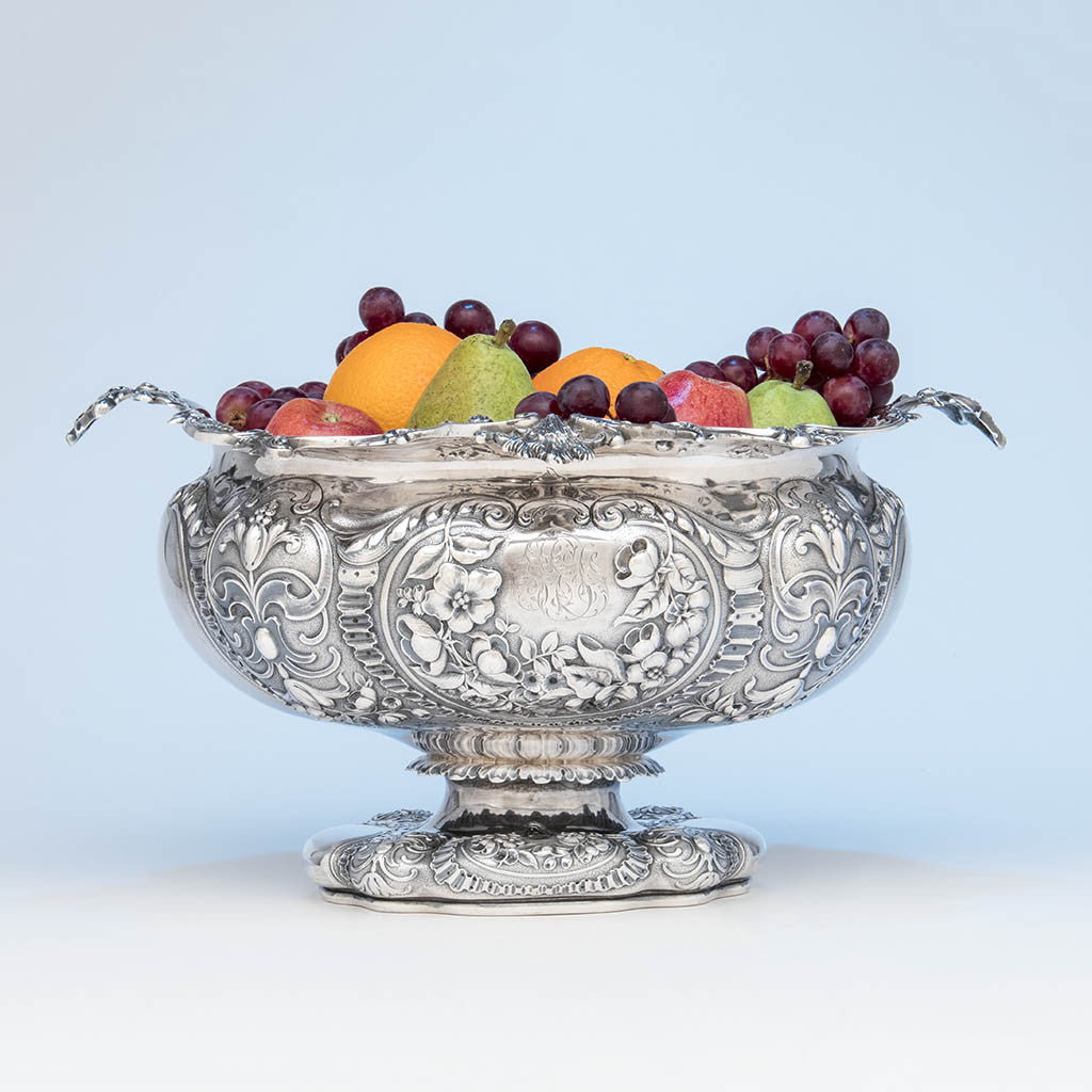 Gorham Antique Sterling Silver Massive Punch Bowl, Providence, RI, 1886
