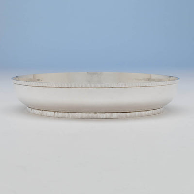 Bowl of the Wolfgang Schroth Modern Sterling Silver Garniture Set, Montville, New Jersey, 1968